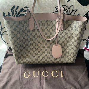 Authentic Gucci GG reversible tote